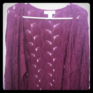 Cj banks 2x crochet cardigan mid length